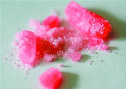 Zabarwiona metaamfetamina